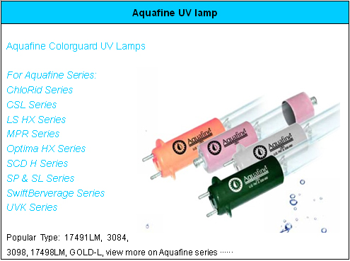 Aquafine UV lamp